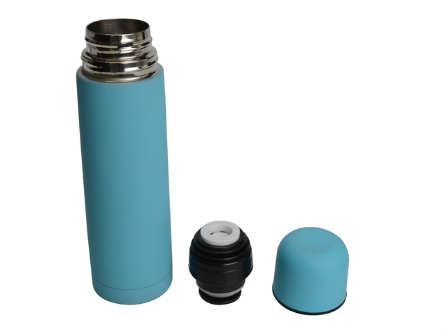 Vacuum Flask Stainless Steel 500ml Soft Feel Blue