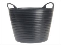 Faithfull Heavy-Duty Polyethylene Flex Tub 28 Litres Black