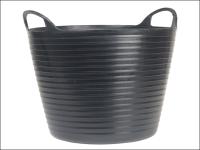 Faithfull Heavy-Duty Polyethylene Flex Tub 42 Litres Black