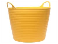 Faithfull Heavy-Duty Polyethylene Flex Tub 42 Litres Yellow