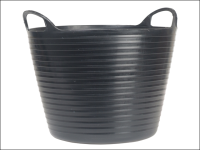 Faithfull Heavy-Duty Polyethylene Flex Tub 60 Litres Black