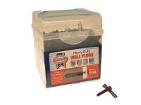 Faithfull Heavy-Duty Wall Plug Brown Tub 500