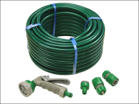 Faithfull PVC Reinforced Hose 30 Metre Fittings & Spray Gun