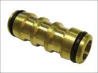 Faithfull Brass Two Way Hose Coupling 1/2in