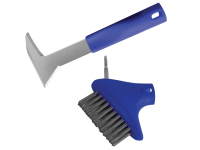 Faithfull Auto-Lock Patio Steel Brush & Weeder