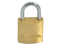 Faithfull Brass Padlock 20mm 3 Keys