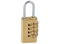 Faithfull Brass Combination Padlock 20mm