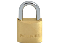 Faithfull Brass Padlock 25mm 3 Keys