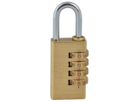 Faithfull Brass Combination Padlock 28mm