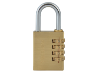 Faithfull Brass Combination Padlock 38mm