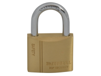 Faithfull Brass Padlock 40mm 3 Keys