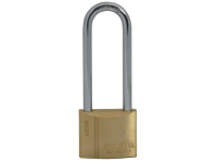 Faithfull Brass Padlock 40mm Long Shackle 3 Keys