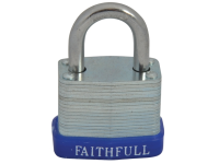Faithfull Laminated Steel Padlock 30mm 3 Keys
