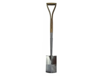 Faithfull Prestige Stainless Steel Border Spade Ash Handle