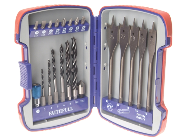 Faithfull Quick Release Multi Drill Bit Set of 21