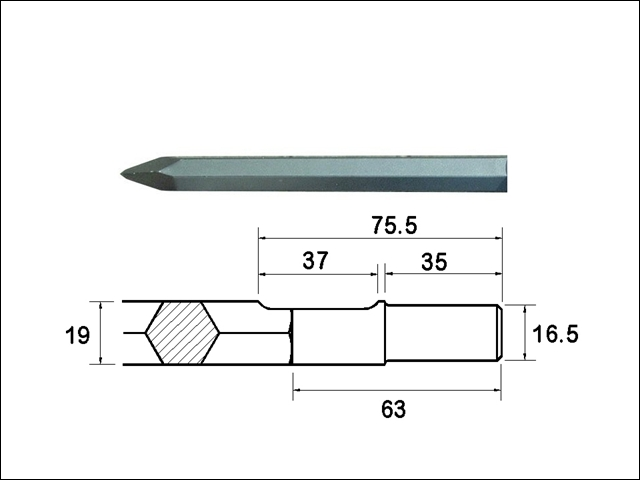 Faithfull Point 380mm Ryobi / Bosch Shank