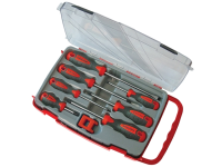 Faithfull Screwdriver Soft Grip Set of 8