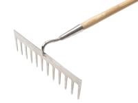 Faithfull Garden Rake Stainless Steel with Wooden Handled