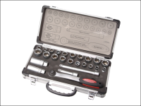 Faithfull Socket Set of 25 Metric & AF 3/8in Drive