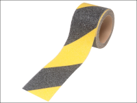Faithfull Anti-Slip Tape Self Adhesive 50mm x 3m Black / Yellow