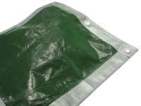 Faithfull Tarpaulin Green / Silver 3.6m x 2.7m (12ft x 9ft)