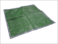 Faithfull Tarpaulin Green / Silver 5.4m x 3.6m (18ft x 12ft)