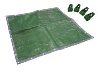 Faithfull Tarpaulin Green / Silver 5.4 x 3.6m (18 x 12ft) + Free Tarp Clips
