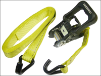 Faithfull Ratchet Tie Downs (2) 5m x 32mm Breaking Strain 2000kg
