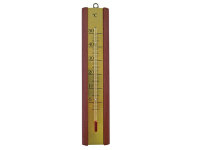 Faithfull Thermometer Wall Mahogany Brass 200mm