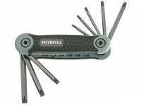 Faithfull Folding Torx® Star Key Set of 8 (T9-T40)