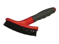 Faithfull Grout Scrubbing Brush Soft Grip Handle