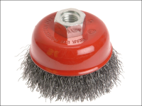 Faithfull Wire Cup Brush 100mm x M14 x 2 0.30mm