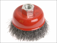 Faithfull Wire Cup Brush 80mm x M14 x 2 0.30mm