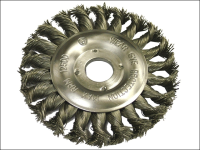 Faithfull Circular Wire Brush 125mm x 12 x 22.2mm 0.50mm Wire