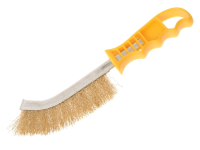 Faithfull Wire Scratch Brush Brass Yellow Handle