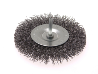 Faithfull Wire Brush 100mm x 6mm Shank 0.30mm