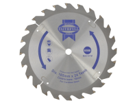 Faithfull Trim Saw Blade 165 x 10mm x 24T Fast Rip