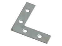 Forge Corner Plates  Zinc Plated 50mm Pack of 10
