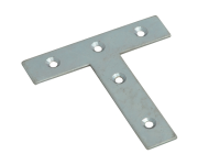 Forge Tee Plates  Zinc Plated 76mm Pack of 10