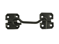 Forge Cabin Hook - Black Powder Coated 100mm (4in)