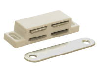 Forge Magnetic Catch - White Plastic Pack of 2