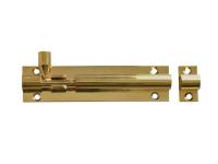 Forge Door Bolt - Brass 100mm (4in)