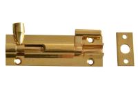 Forge Door Bolt Necked - Brass 75mm (3in)
