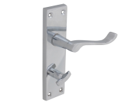 Forge Backplate Handle Bathroom - Scroll Chrome Finish 150mm