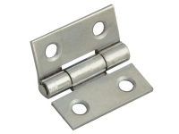 Forge Butt Hinge Polished Chrome Finish 40mm (1.5in) Pack of 2