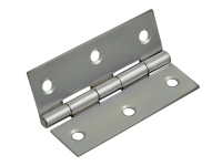 Forge Butt Hinge Polished Chrome Finish 65mm (2.5in) Pack of 2