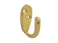 Forge Hook Robe - Brass Finish 40mm Pack of 2