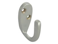 Forge Hook Robe - Chrome Finish 40mm Pack of 2