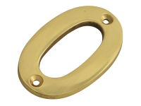 Forge Numeral No.0 - Brass Finish 75mm (3in)