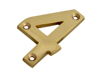 Forge Numeral No.4 - Brass Finish 75mm (3in)